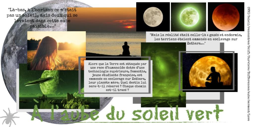 Moodboard d'inspirations pour le livre 'à l'aube du soleil vert' d'Isabelle Morot-Sir