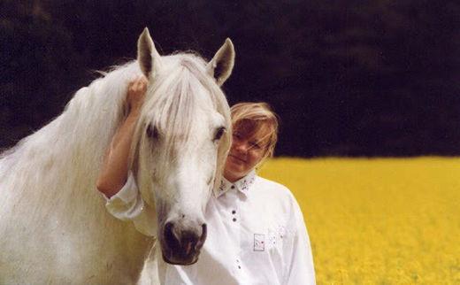 Isabelle Morot-Sir et son cheval