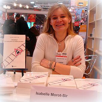 Isabelle Morot-Sir lors d'un salon du livre