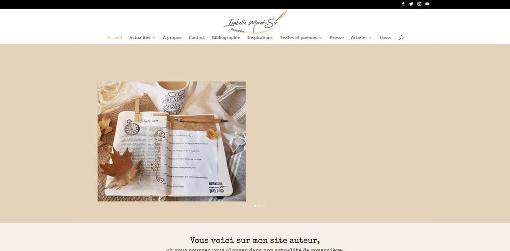 Capture d'écran du site web d'Isabelle Morot-Sir