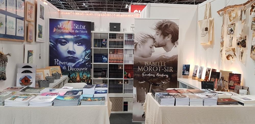 Stand d'Isabelle Morot-Sir et de Jeanne Sélène au salon du livre Paris 2019